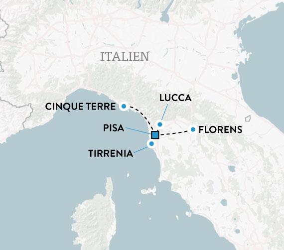 karta över pisa italien Mitt Toscana   resa med svensk guide | Escape Travel karta över pisa italien