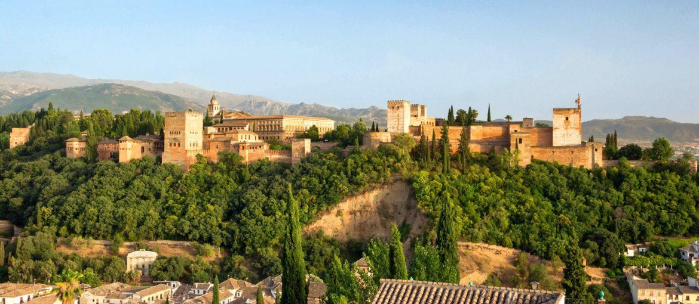 Alhambrapalatset i Granada, Andalusien, Spanien