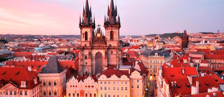 Torget i gamla stan i Prag, Tjeckien