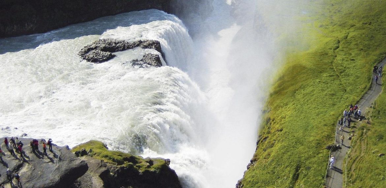 Gullfoss vattenfall, Gyllene Cirkeln på Island